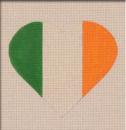 click here to view larger image of Irish Flag Heart (hand painted canvases)