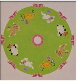 click here to view larger image of Easter Tree Skirt (hand painted canvases)