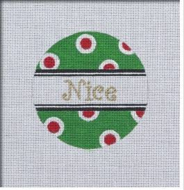 click here to view larger image of Nice Dots Ornament (hand painted canvases)