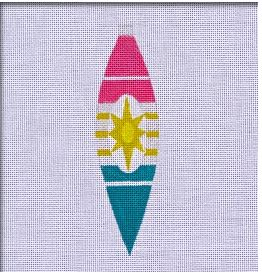 click here to view larger image of Retro Brite Teardrop Ornament (hand painted canvases)