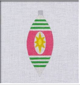 click here to view larger image of Retro Brite Wide Teardrop Ornament (hand painted canvases)