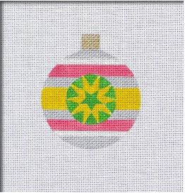click here to view larger image of Retro Brite Round Ornament (hand painted canvases)