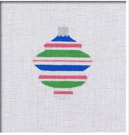 click here to view larger image of Retro Brite Spindle 4 Ornament (hand painted canvases)