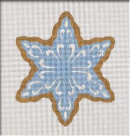 click here to view larger image of Blue Snowflake Ornament (hand painted canvases)