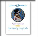 click here to view larger image of Snowman Of The Month January Stitch Guide (books)