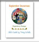 click here to view larger image of Snowman Of The Month September Stitch Guide (books)