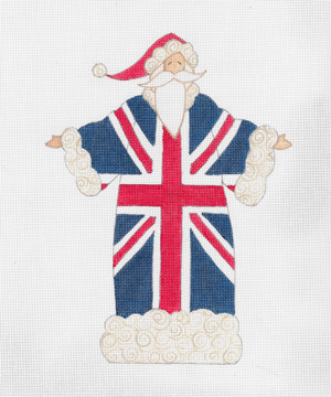 click here to view larger image of British Santa (hand painted canvases)