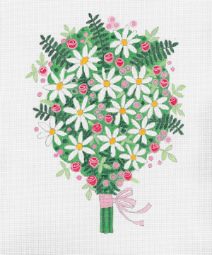 click here to view larger image of Summer Bouquet (hand painted canvases)