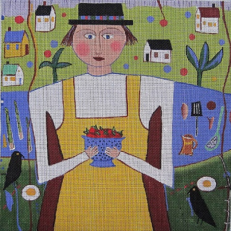 click here to view larger image of Yellow Apron (hand painted canvases)