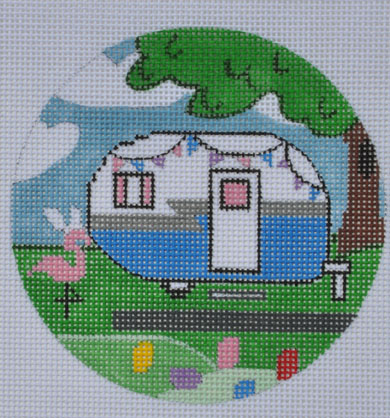 click here to view larger image of Easter Campervan Round (hand painted canvases)