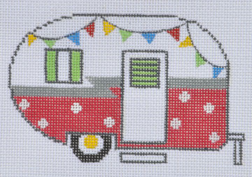click here to view larger image of Red Campervan (hand painted canvases)