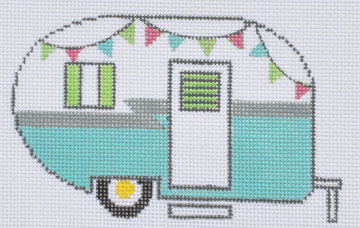 click here to view larger image of Blue Campervan (hand painted canvases)
