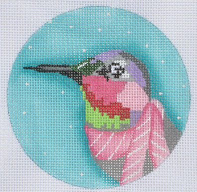 click here to view larger image of Hummingbird Ornament (hand painted canvases)