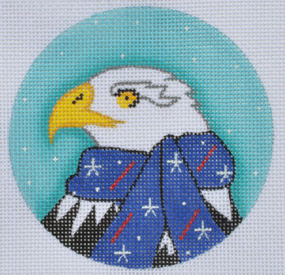 click here to view larger image of Bald Eagle Ornament (hand painted canvases)
