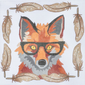 click here to view larger image of Fox With Glasses (hand painted canvases)