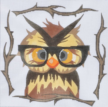 click here to view larger image of Owl With Glasses (hand painted canvases)