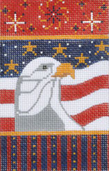 click here to view larger image of Eagle Firecracker (hand painted canvases)