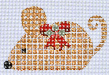 click here to view larger image of Gold Checkered Mouse (hand painted canvases)