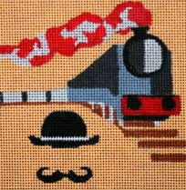 click here to view larger image of Murder On The Orient Express (hand painted canvases)