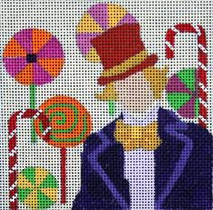 click here to view larger image of Willy Wonka (hand painted canvases)
