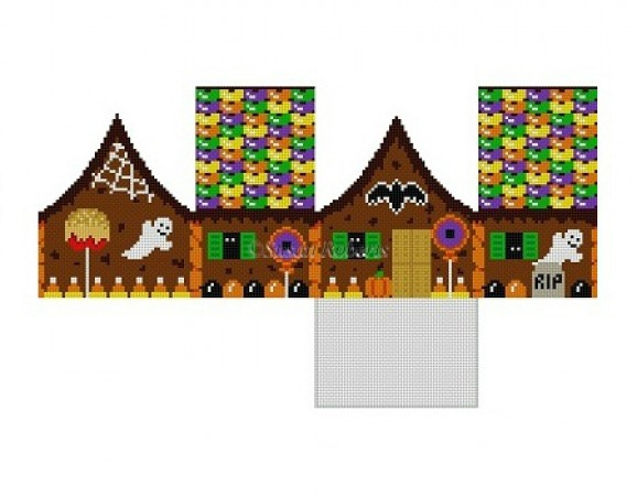 click here to view larger image of Halloween Gingerbread House - Stitch Guide (books)