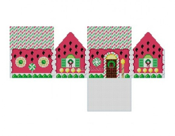 click here to view larger image of Watermelon Gingerbread House - 18ct (hand painted canvases)
