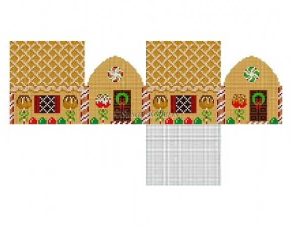 click here to view larger image of Apple Pie Gingerbread House (hand painted canvases)
