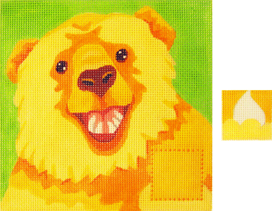 click here to view larger image of Rory O'Bear Tooth Pillow - 13ct (hand painted canvases)