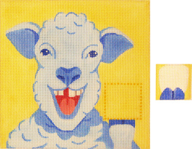 click here to view larger image of Baba LeSheep Tooth Pillow - 13ct (hand painted canvases)
