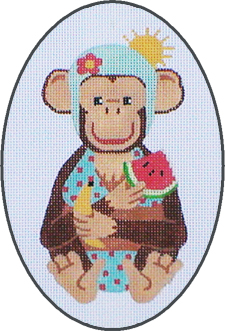 click here to view larger image of August - A Year Of Chimpanzees (hand painted canvases)