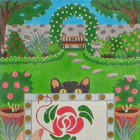 click here to view larger image of Stitching On The Go! - Stitching In The Garden (hand painted canvases)