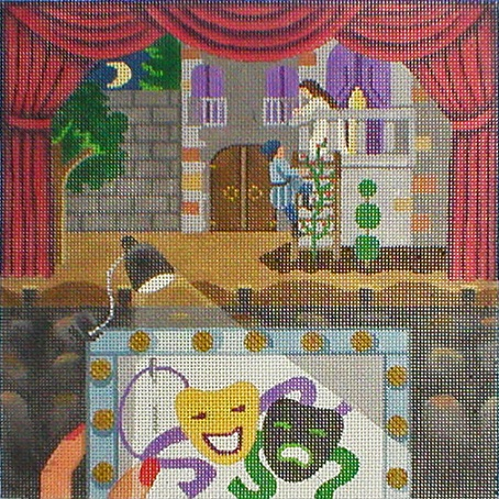 click here to view larger image of Stitching On The Go! - Stitching At The Theatre (hand painted canvases)