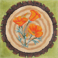 click here to view larger image of Forest Flowers - California Poppy - 18ct (hand painted canvases)