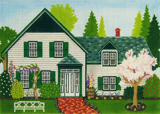 click here to view larger image of Green Gables (hand painted canvases)