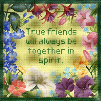 click here to view larger image of True Friends Square (hand painted canvases)