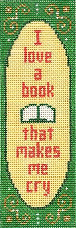 click here to view larger image of I Love A Book Bookmark (hand painted canvases)