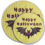 click here to view larger image of Batty Greeting (hand painted canvases)