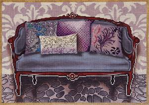 click here to view larger image of Purple Couch (hand painted canvases)