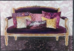 click here to view larger image of Fuchsia Couch (hand painted canvases)