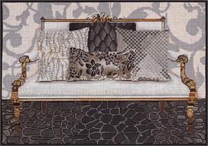 click here to view larger image of Platinum Couch (hand painted canvases)