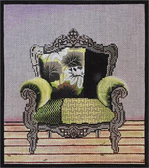 click here to view larger image of Green Chair (hand painted canvases)