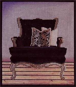 click here to view larger image of Black Chair (hand painted canvases)