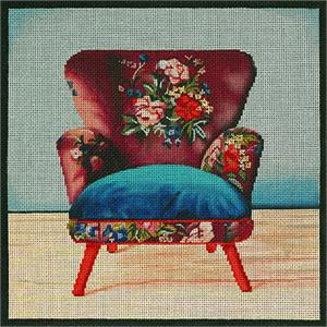 click here to view larger image of Boho Mauve Chair (hand painted canvases)