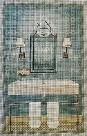 click here to view larger image of Modern Bathroom (hand painted canvases)