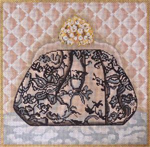 click here to view larger image of Lace Evening Bag (hand painted canvases)