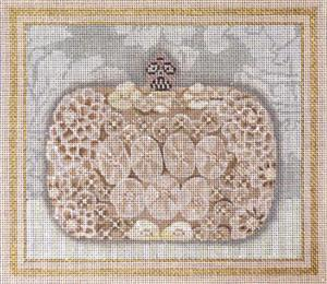 click here to view larger image of Jeweled Evening Bag (hand painted canvases)
