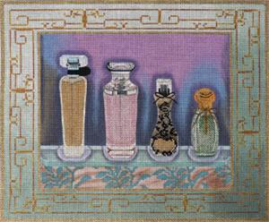 click here to view larger image of Perfume Bottles 2 (hand painted canvases)