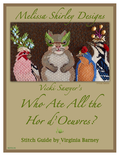 click here to view larger image of Who Ate All The Hor D'Oeuvres? Stitch Guide (books)