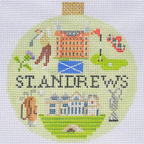 click here to view larger image of Sporting Round - St Andrews (hand painted canvases)