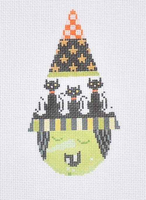 click here to view larger image of Witch Cone - Black Cats (hand painted canvases)